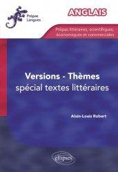 Dernières parutions dans Prépas Langues, Version-Thèmes anglais. Spécial textes littéraires