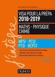 Dernières parutions sur 1ère année, Visa pour la prépa 201862019- Maths-Physique-Chimie