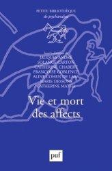 Dernières parutions dans Petite bibliothèque de psychanalyse, Vie et mort des affects