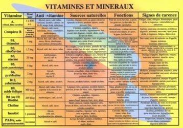 Souvent acheté avec Planche de pratique en Réflexologie palmaire émotionnelle avec zones prénatales, le Vitamines et minéraux