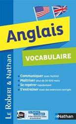 Dernières parutions sur Vocabulaire, Vocabulaire Anglais - Robert  Nathan