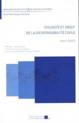 Dernières parutions dans Laboratoire de droit privé & de sciences criminelles, Volonté et droit de la responsabilité civile