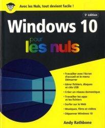 Dernières parutions sur Systèmes d'exploitation, Windows 10 pour les nuls