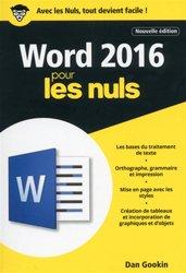 Dernières parutions dans Pour les nuls poche , Word 2016 pour les Nuls poche