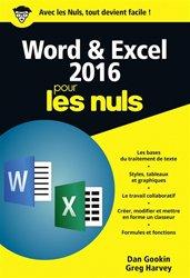 Dernières parutions dans Pour les nuls poche , Word & Excel 2016 pour les nuls