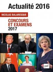 Actualité 2016. Concours et examens 2017