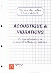 Acoustique & vibrations