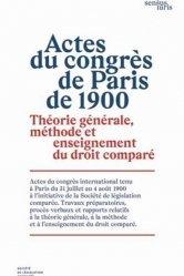 Actes du congrès de Paris de 1900
