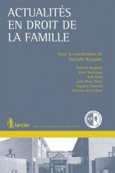 Actualités en droit de la famille