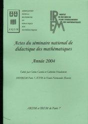 Actes du séminaire national de didactique des mathématiques