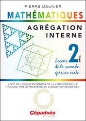 Agrégation interne de mathématiques tome 2