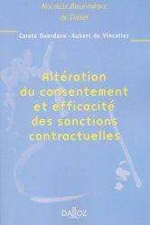Altération du consentement et efficacité des sanctions contractuelles