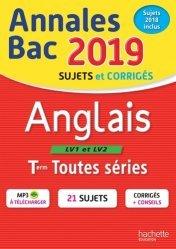 Annales BAC Anglais LV1 et LV2 Tles toutes séries