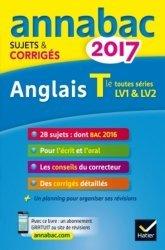 Anglais Tle toutes séries LV1 et LV2