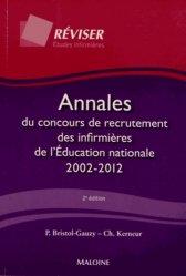 La couverture et les autres extraits de Annales du concours de recrutement des infirmières de l'Éducation nationale 2008 - 2017