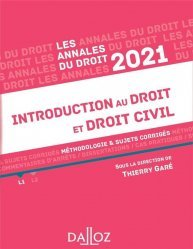 Annales Introduction au droit et droit civil