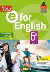 Anglais 6e Cycle 3 A1-A2 New e For English