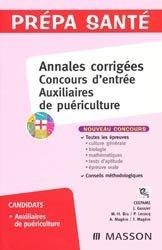 Annales corrigées Concours d'entrée Auxiliaires de puériculture