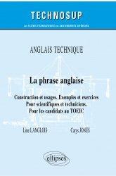 Anglais technique - La phrase anglaise