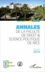 Annales de la faculté de droit et science politique de Nice. Edition 2014