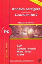 La couverture et les autres extraits de Annales des concours MP physique et chimie 2012
