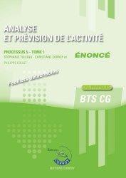 Analyse et prévision de l'activité Processus 5 du BTS CG Tome 1