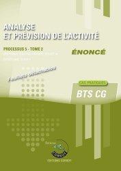 Analyse et prévision de l'activité Processus 5 du BTS CG Tome 2