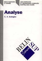 Analyse Deug Sciences 2e année
