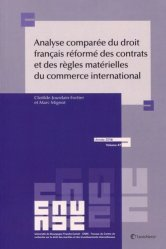 Analyse comparée du droit français réformé des contrats et des règles matérielles du commerce international