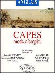 Anglais CAPES mode d'emploi
