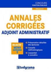 La couverture et les autres extraits de Adjoint administratif territorial. Edition revue et augmentée