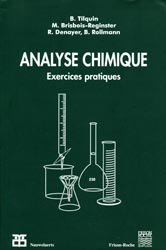 La couverture et les autres extraits de Chimie analytique en solution Principes et applications