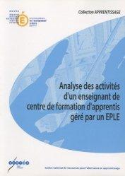 Analyse des activités d'un enseignant de centre de formation d'apprentis géré par un EPLE