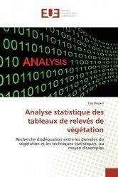 Analyse statistique des tableaux de relevés de végétation