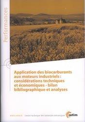 Application des biocarburants aux moteurs industriels