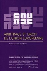 Arbitrage et droit de l'Union européenne