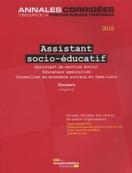 Assistant socio-éducatif  2016