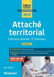 Attaché territorial catégorie A. Concours interne et 3e concours, Edition 2019