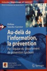 Au-delà de l'information, la prévention