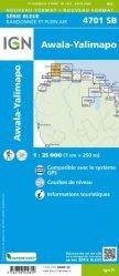 La couverture et les autres extraits de Guyane. 1/400 000