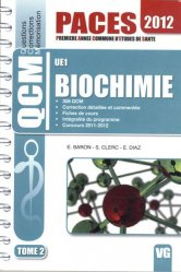Biochimie UE1 Tome 2