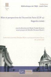 Bilan et perspectives de l'Accord de Paris (COP 21). Regards croisés