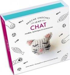 Broche crochet chat