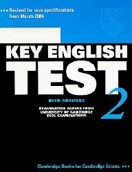 Cambridge Key English Test 2 - Student's Book with Answers Examination Papers from the University of Cambridge ESOL Examinations
