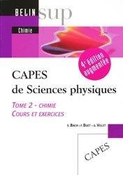Capes de sciences physiques Tome 2 Chimie