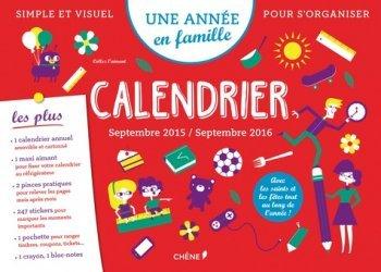 Calendrier Septembre 2015/Septembre 2016