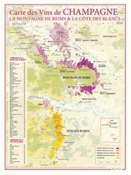 Carte des Vins de Champagne - La Montagne de Reims - La Côte des Blancs