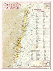 Carte des Vins d'Alsace