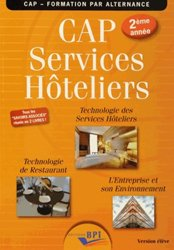 CAP Services hôteliers 2ème année - Elève