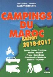 La couverture et les autres extraits de Campings du Maroc. Guide critique, Edition 2020-2021